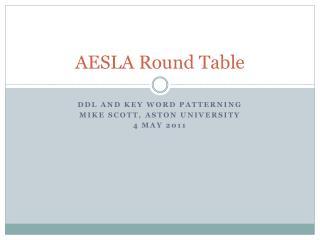 AESLA Round Table