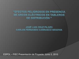 efectos peligrosos en presencia de arcos el ctricos en tableros de distribuci n     Jos  Luis cruz Pilozo Carlos Fernan