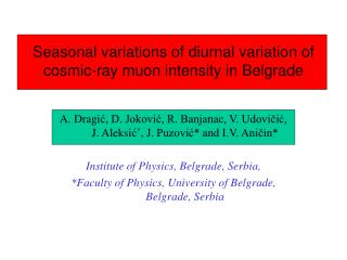 Seasonal variations of diurnal variation of cosmic-ray muon intensity in Belgrade