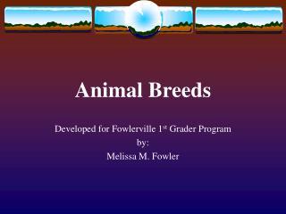 Animal Breeds