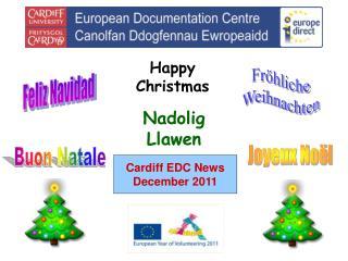 Cardiff EDC News December 2011