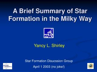 A Brief Summary of Star Formation in the Milky Way