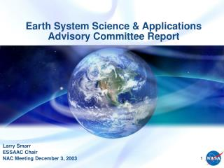 Earth System Science  Applications Advisory Committee Report
