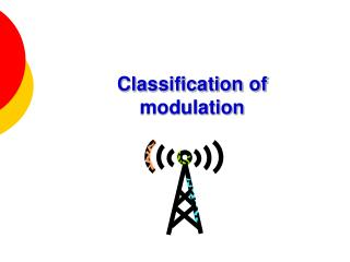 Classification of modulation