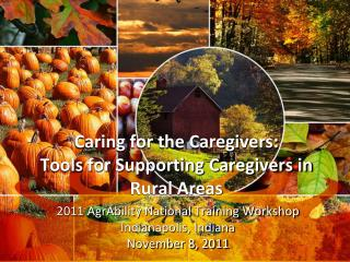Caring for the Caregivers: Tools for Supporting Caregivers in Rural Areas