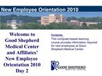 New Employee Orientation 2010