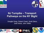 NJ Turnpike   Transport Pathways on the NY Bight