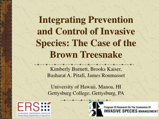 Integrating Prevention and Control of Invasive Species: The Case of the Brown Treesnake