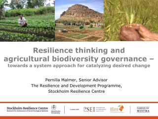 Resilience thinking and  agricultural biodiversity governance    towards a system approach for catalyzing desired change