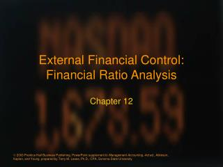 External Financial Control: Financial Ratio Analysis