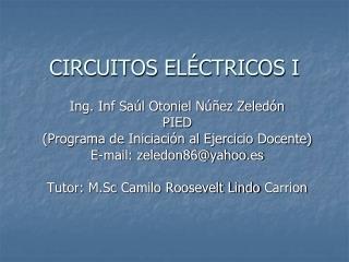 CIRCUITOS EL CTRICOS I
