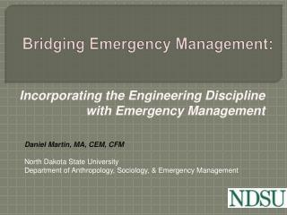 Bridging Emergency Management: