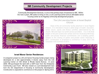 IMI Community Development Projects