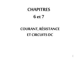 CHAPITRES 6 et 7