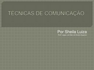 T CNICAS DE COMUNICA  O