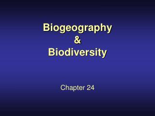 Biogeography    Biodiversity