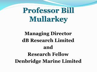 Professor Bill Mullarkey