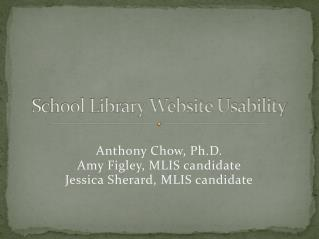 School Library Website Usability