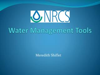 Water Management Tools