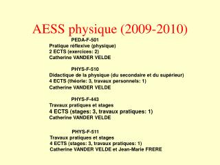 AESS physique 2009-2010
