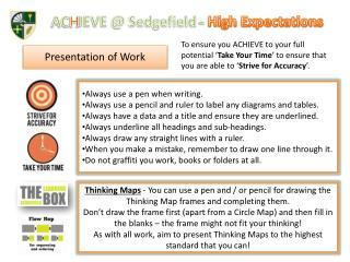 ACHIEVE  Sedgefield - High Expectations
