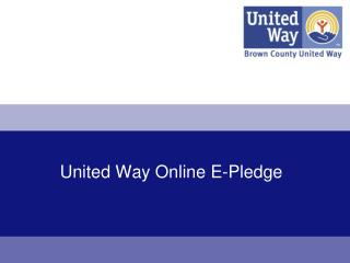 United Way Online E-Pledge