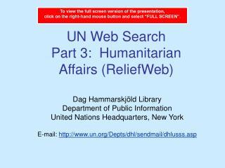 UN Web Search