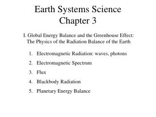 Earth Systems Science Chapter 3
