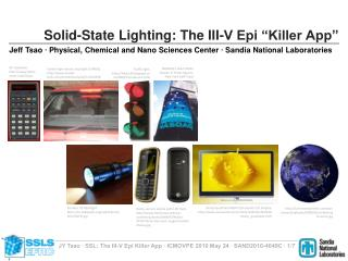 Solid-State Lighting: The III-V Epi  Killer App