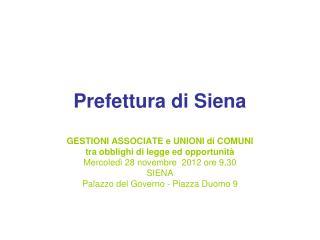 Prefettura di Siena