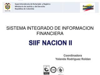 SIIF NACION II