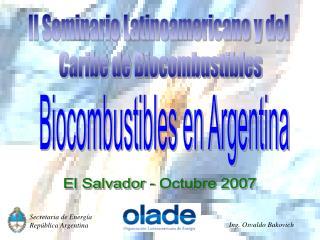 II Seminario Latinoamericano y del  Caribe de Biocombustibles