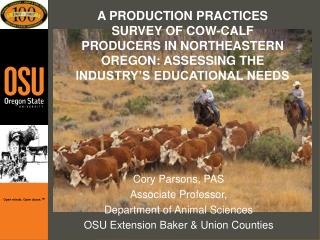 A PRODUCTION PRACTICES SURVEY OF COW-CALF PRODUCERS IN ...