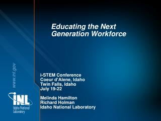 Educating the Next Generation Workforce