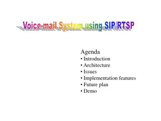 Voice-mail System using SIP