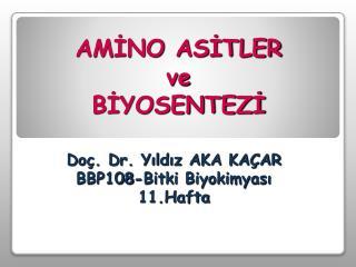 AMINO ASITLER  ve  BIYOSENTEZI