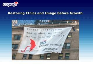 Restoring Ethics and Image Before Growth