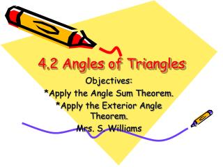 4.2 Angles of Triangles