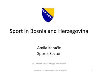 Sport in Bosnia and Herzegovina