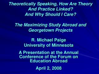 Theoretically Speaking, How Are Theory And Practice Linked And Why Should I Care  The Maximizing Study Abroad and George