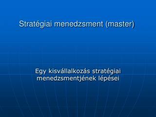 Strat giai menedzsment master