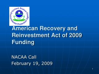 American Recovery and Reinvestment Act of 2009 Funding