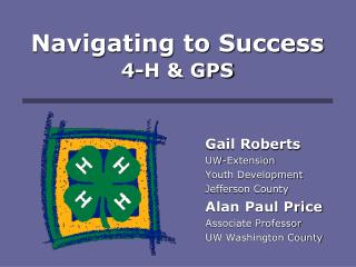 Navigating to Success 4-H  GPS