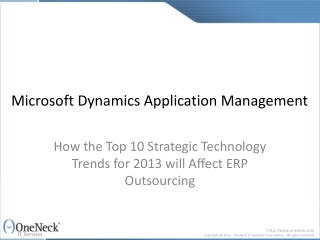 Microsoft Dynamics Application Management: How the Top 10 St