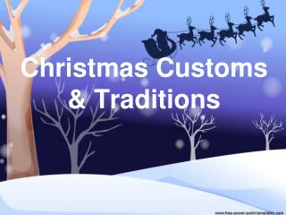 Christmas Customs  Traditions