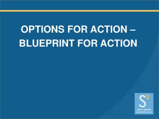OPTIONS FOR ACTION   BLUEPRINT FOR ACTION