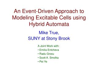 An Event-Driven Approach to Modeling Excitable Cells using Hybrid Automata
