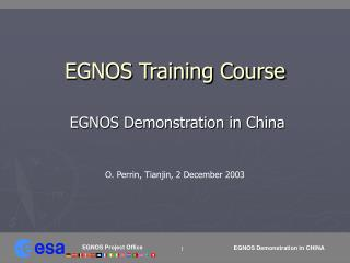 EGNOS Training Course