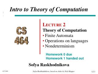 Intro to Theory of Computation