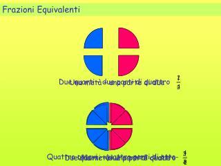 Due quarti   due parti di quattro